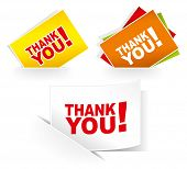 Thank you - grateful cards. Vector illustration. poster