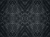 Spacious black repetitive texture of weathered concrete surface forming a whimsical pattern. Dark gray background poster