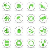 Environmental and recycling vector icons set poster