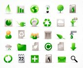 green energy concept vector icons set (see also other related images in my portfolio) poster