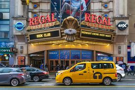 New York, Usa - May 20, 2018: People Visiting The Regal Cinema In New York City. It Is A Uk Based Ci