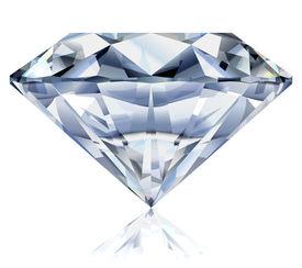 Vector illustration of a realistic diamond. No gradient mesh.