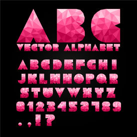 Shiny Alphabet With Numbers
