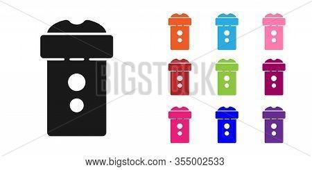 Black Vagina Masturbator Icon Isolated On White Background. Sex Toy For Man. Set Icons Colorful. Vec