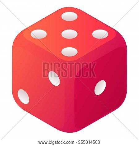 Lose Dice Icon. Isometric Of Lose Dice Vector Icon For Web Design Isolated On White Background