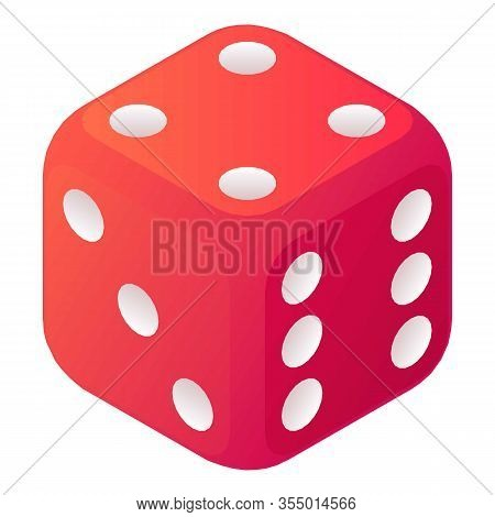 Vegas Dice Icon. Isometric Of Vegas Dice Vector Icon For Web Design Isolated On White Background