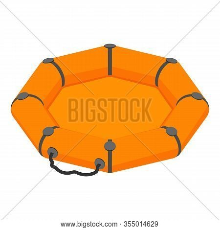 Rescue Round Boat Icon. Isometric Of Rescue Round Boat Vector Icon For Web Design Isolated On White