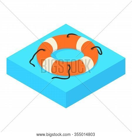 Lifebuoy Icon. Isometric Of Lifebuoy Vector Icon For Web Design Isolated On White Background