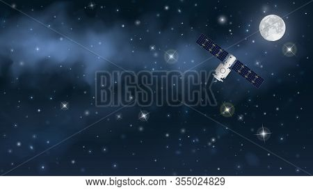 Communications Satellite Successfully Placed Into Stable Orbit Or Geostationary Transfer Orbit. The