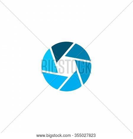 Camera Aperture Objective Icon, Shutter Icon, Stock Vector Illustration Isolated On White Background