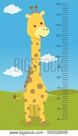 Meter Wall Giraffe, For Childrens, In Hospitals