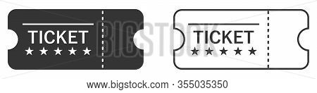 Set Of Blank Ticket Templates. Blank Ticket Template. Vector Illustration. Template Ticket Isolated.