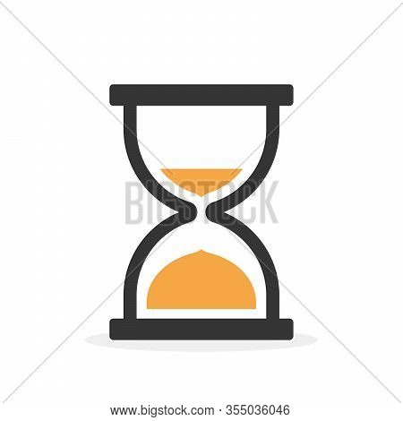 Sandglass Icon Isolated. Hourglass Icon In Flat Style. Time Or Clock Icon. Vector Illustration.