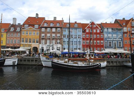Colorful Nyhavn Waterfront In Copenhagen