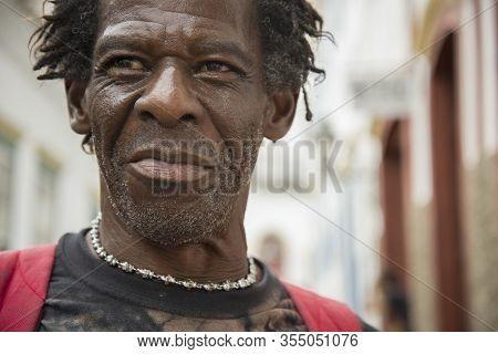 Sao Joao Del Rei, Minas Gerais, Brazil - March 05, 2016: Afro Brazilian Man, Native From Sao Joao De