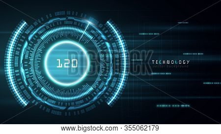 Blue Fast Cyberspace Technology Abstract Vector Background,future Yechnology Automotive Innovation B