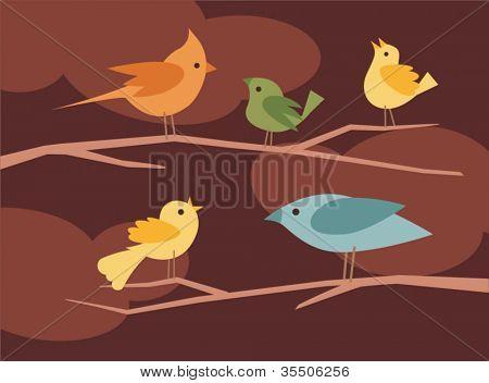 vector bird set 6