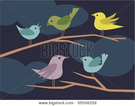 vector bird set 2
