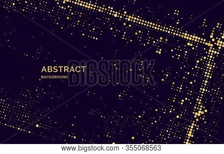 Poster Of Sparkling Glitter Particles On A Dark Background.