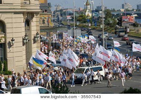 Ukrainian opposition on the streets of Kiev