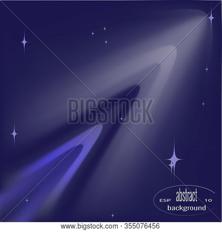 Glowing Space Object, Galaxy, Planet, Comet, Meteorite. Vector Illustration. Abstract Outer Space Ba