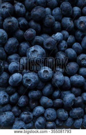 Blueberry Berry. Berry Blue Background. Bio Natural Dessert And Snack.vegetarian And Vegan Food.fres