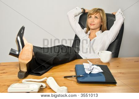 Lazy Beautiful Business Lady