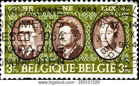 02.09.2020 Divnoe Stavropol Territory Russia The Postage Stamp Belgium 1964 The 20th Anniversary Of