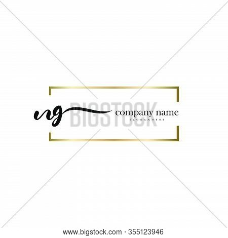 Ng Initial Handwriting Minimalist Logo Vector. Logo For Beauty, Skincare, Fashion And Business