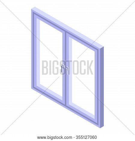Fixing Window Frame Icon. Isometric Of Fixing Window Frame Vector Icon For Web Design Isolated On Wh