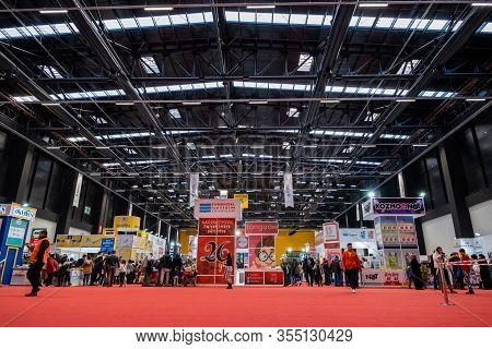 Eskisehir, Turkey - December 14, 2019: People Visiting The 2nd Eskisehir Book Fair Held In Tuyap Fai