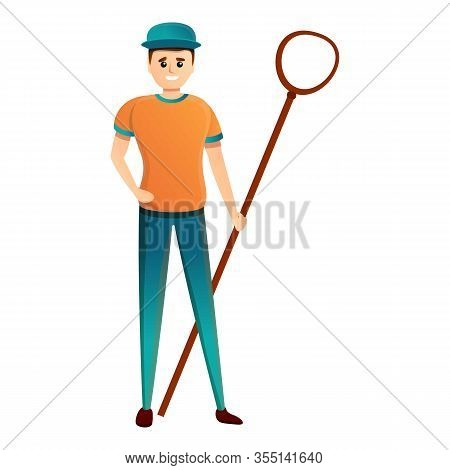 Animal Shelter Catch Man Icon. Cartoon Of Animal Shelter Catch Man Vector Icon For Web Design Isolat
