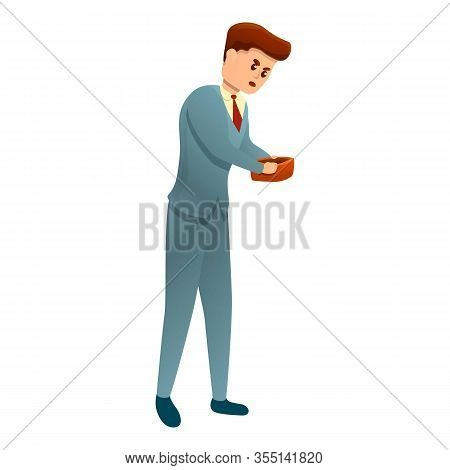Bankrupt Empty Wallet Icon. Cartoon Of Bankrupt Empty Wallet Vector Icon For Web Design Isolated On