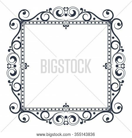 Floral Decorative Frame. Vector Illustration Isolated On White Background