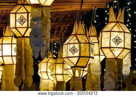 Traditional Lanna Lantern (khom Pet) From Northern Thailand