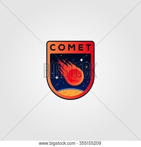 Comet Meteor Logo Vector Icon Illustration Design
