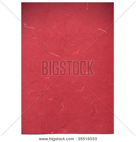 Red Rice Paper Texture On White Background