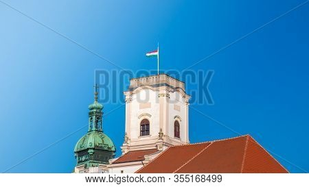 Bishop Castle In Gyor City In Hungary