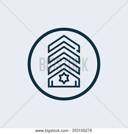Chevron Vector Icon On White Background. Flat Vector Chevron Icon Symbol Sign From Modern Army Colle