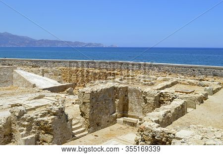 Heraklion, Crete, Greece - June 5, 2019 : Monastery Of St. Peter And St. Paul In The Capital City Of