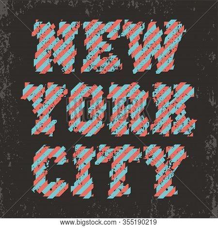 New York Typography, T-shirt Ny, Design Graphic, Printing Man Nyc, Original Design Clothing
