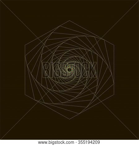 Abstract Colored Background. Geometric Tunnel. Vector.twisted Geometric Tunnel.