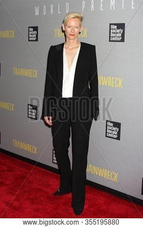 NEW YORK - JUL 14: Tilda Swinton attends the world premiere of
