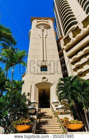Harbor Court Residential High Rise In Honolulu, Hawaii