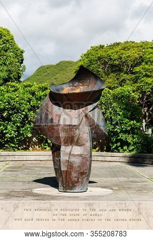 Eternal Flame Memorial In Honolulu, Hawaii