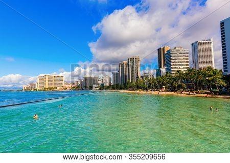 View Of Waikiki Beach, Honolulu, Hawaii