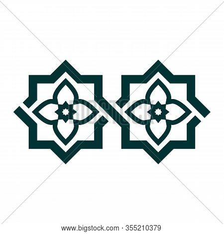 Arabesque Tile Seamless Vector Border. Geometric Border With Arabesque, Arabian Disintegration.