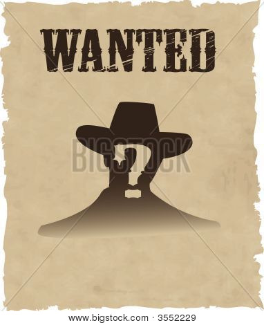 poster of the vector wanted poster image EPS 8