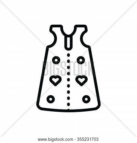 Black Line Icon For Sleep-sack Sleep Sack Cloth Dress Fashion Garment Baby-cloth Body-suit Infant