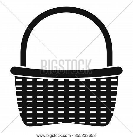 Wicker Picnic Icon. Simple Illustration Of Wicker Picnic Vector Icon For Web Design Isolated On Whit